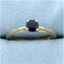 1/3ct Sapphire Solitaire Ring in 14K Yellow Gold