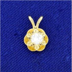 .2ct Diamond Solitaire Pendant in 14K Yellow Gold