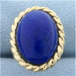 14ct Lapis Lazuli Solitaire Ring in 14K Yellow Gold