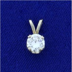 2/3ct Round Brilliant Cut Diamond Pendant in 14K White Gold