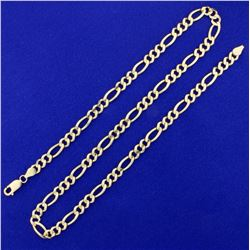 20 1/2 Inch Figaro Neck Chain in 14K Yellow Gold