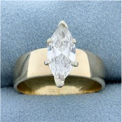 1.8ct Marquise Diamond Solitaire Engagement Ring in 14K Yellow Gold