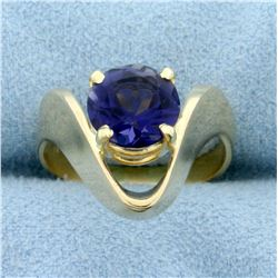 1.8ct Natural Tanzanite Ring in 14K Yellow Gold