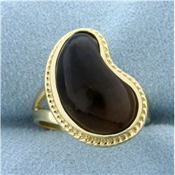 Smoky Topaz Statement Ring in 14K Yellow Gold