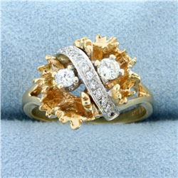 Custom Designed 1/3ct TW Diamond Ring in 14K Yellow and White Gold