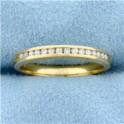 .15ct TW Channel Set Diamond Wedding Band Ring in 14K Yellow Gold