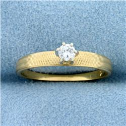 Diamond Solitaire Engagement Ring in 14K Yellow Gold