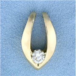 2/3ct Diamond Solitaire Slide in 14K Yellow Gold