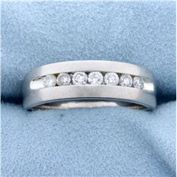 1/2ct TW Diamond Wedding or Anniversary Band Ring in Platinum