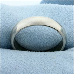 Men's 5mm Wedding Band Ring in 14K White Gold