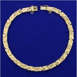 Nugget Style Link Bracelet in 14K Yellow Gold