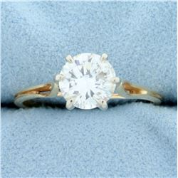 1.4ct Diamond Solitaire Engagement Ring in 14K Yellow Gold