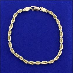 Rope Style Bracelet in 14K Yellow Gold