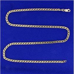 20 Inch Curb Link Necklace in 14K Yellow Gold