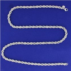 24 Inch Tiffany & Co. Rope Style Neck Chain in Sterling Silver and 18k Yellow Gold
