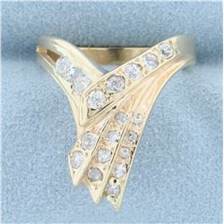 1/2ct TW Designer Diamond Ring in 14K Yellow Gold