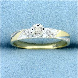 Diamond Promise Ring in 10K Yellow and White Gold