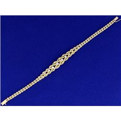 7 Inch Graduated Rope Style Diamond Bracelet in 14K Yellow Gold