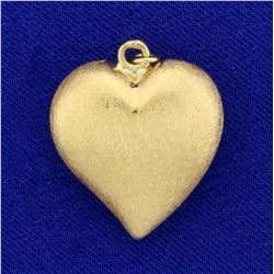 Large Heart Pendant in 18K Yellow Gold