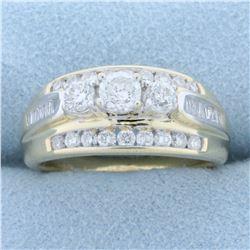 1.25ct TW Diamond Anniversary Ring in 14K Yellow Gold
