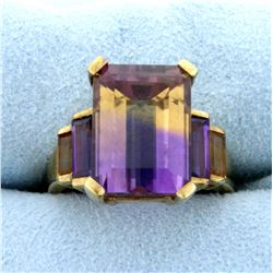 9ct TW Ametrine Ring in 10K Yellow Gold