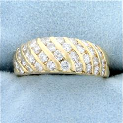 1.5ct TW Diamond Wedding or Anniversary Band Ring in 18K Yellow Gold