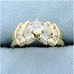 1ct TW Oval Diamond Engagement Ring in 14K Yellow Gold