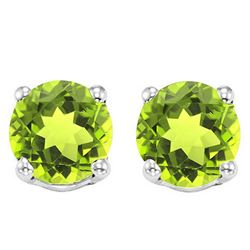 6MM Peridot Stud Earrings in Sterling Silver