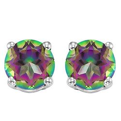 6MM Mystic Topaz Stud Earrings in Sterling Silver