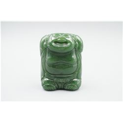 "A Canada BC Jade ""Cloth Bag Monk"" Hand Piece."