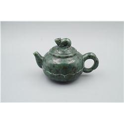 "A Canada Jade ""Chinese Zodiac"" Teapot."