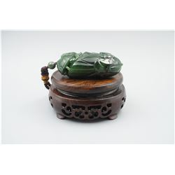 "A Large Canada Jade ""Dragon Head"" Pattern Hand Piece."