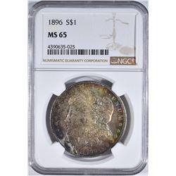1896 MORGAN DOLLAR NGC MS 65
