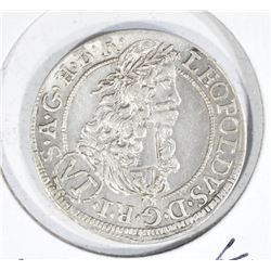 1694 SILVER 6KREUZER HOLY ROMAN EMPIRE