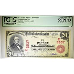 1902 RED SEAL $20 NATIONAL CURRENCY