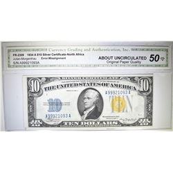 1934 A $10 SILVER CERTIFICATE-NORTH AFRICA