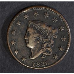 1826 LARGE CENT, N-1 XF