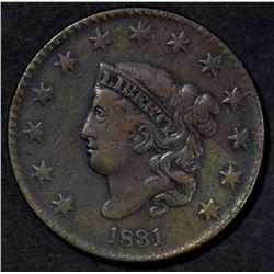 1831 LARGE CENT VF