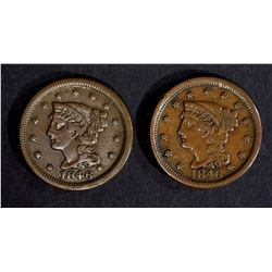 2 - 1846 LARGE CENTS VF