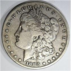 1888-S MORGAN DOLLAR, VF/XF