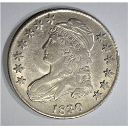 1830 BUST HALF DOLLAR CHOICE BU