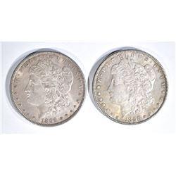 1896 & 1898 CH BU MORGAN DOLLARS