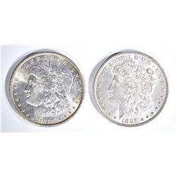 1887 & 1888 CH BU MORGAN DOLLARS