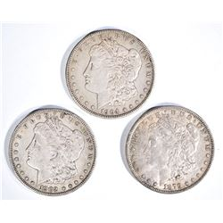 1879, 1902-O & 04 BEAUTIFUL  CH AU MORGAN DOLLARS
