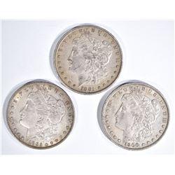 1881-O, 85 & 1900-O BEAUTIFUL CH AU MORGAN DOLLARS