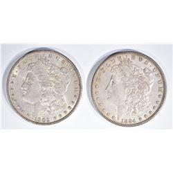 1884 & 1902 BEAUTIFUL ORIG CH AU MORGAN DOLLARS