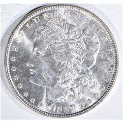 1887 MORGAN DOLLAR  GEM BU