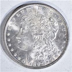1897 MORGAN DOLLAR  GEM BU