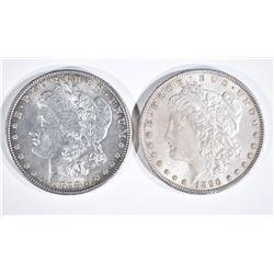1896 & 1898 MORGAN DOLLARS  CH BU