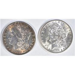 1888 & 1889 MORGAN DOLLARS  CH BU